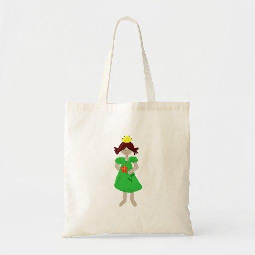 princesa pequeña bolsa tela barata