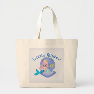 Princesa pequeña hermana de la sirena bolsa tela grande