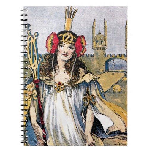 Princesa perdida del cuaderno de la onza