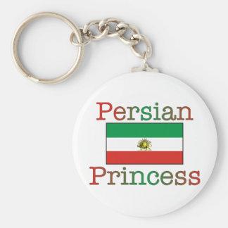 Princesa persa Flag Llavero Redondo Tipo Pin