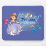 Princesa personalizada 2 alfombrilla de ratón