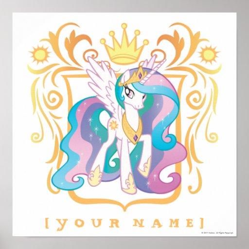 Princesa personalizada Celestia Poster