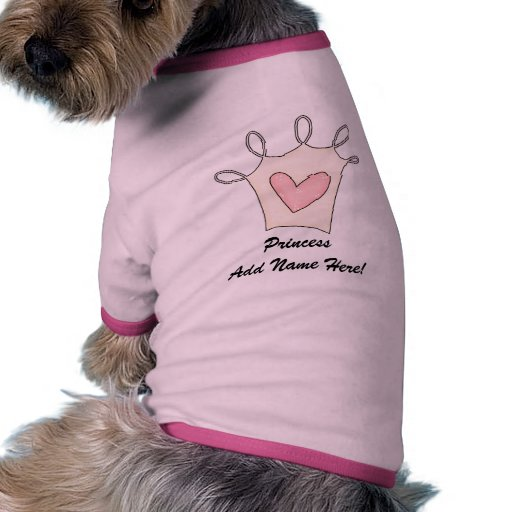 Princesa personalizada Dog T-shirt Ropa Para Mascota