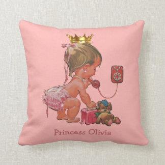Princesa personalizada en el teléfono con el oso cojín