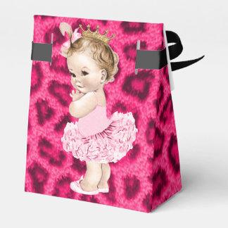 Princesa personalizada en leopardo de la fiesta de caja para regalo de boda