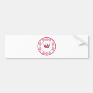 Princesa personalizada pegatina para auto