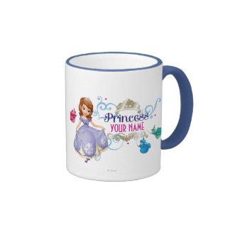 Princesa personalizada taza de dos colores