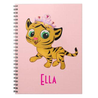 Princesa personalizada Tigress Notebook del tigre