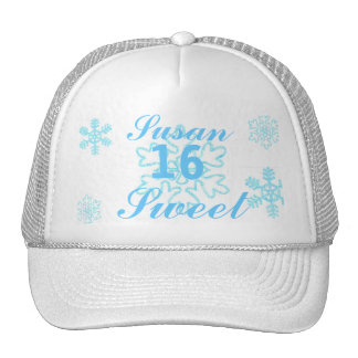 Princesa-Personalizar Nevado del dulce dieciséis Gorras