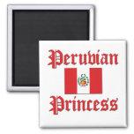 Princesa peruana imán de frigorífico