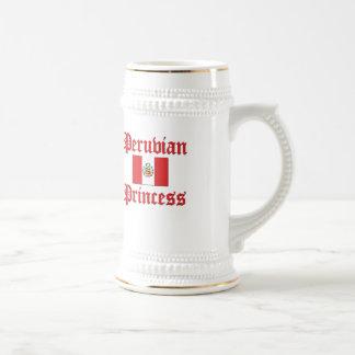 Princesa peruana jarra de cerveza