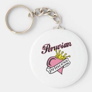 Princesa peruana llaveros personalizados