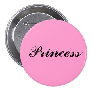 Princesa Pin Redondo De 3 Pulgadas