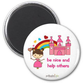 Princesa Pink Castle Magnet Imán Redondo 5 Cm