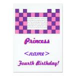 Princesa Pink/cuarta fiesta de cumpleaños del Comunicados