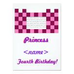 Princesa Pink/cuarta fiesta de cumpleaños del Comunicados Personalizados