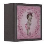 Princesa Pink del bebé del vintage Cajas De Joyas De Calidad