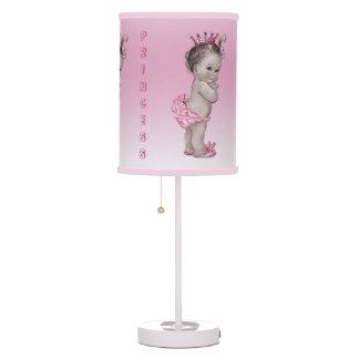 Princesa Pink del bebé del vintage Lámpara De Mesilla De Noche