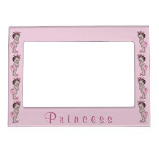 Princesa Pink del bebé del vintage Marcos Magneticos