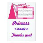 Princesa Pink/la primera fiesta de cumpleaños del Invitación 12,7 X 17,8 Cm