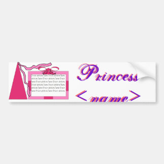 Princesa Pink/pegatina para el parachoques púrpura Pegatina Para Auto