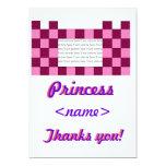Princesa Pink/primera fiesta de cumpleaños del Invitación 12,7 X 17,8 Cm