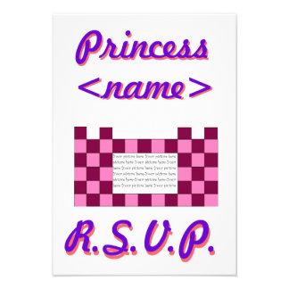 Princesa Pink segunda fiesta de cumpleaños del cas Invitacion Personalizada