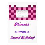 Princesa Pink/segunda fiesta de cumpleaños del cas Invitación