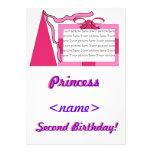 Princesa Pink/segunda fiesta de cumpleaños del gor Comunicado Personalizado