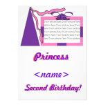 Princesa Pink/segunda fiesta de cumpleaños del gor Invitación Personalizada