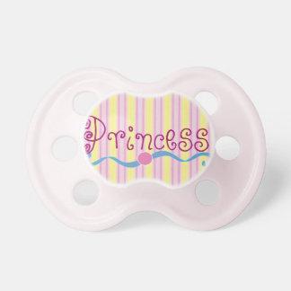 Princesa Pink Stripe Girls Pacifier Chupetes De Bebé