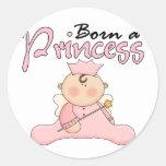 Princesa Pink T-shirts y regalos del bebé Etiqueta Redonda