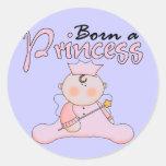 Princesa Pink T-shirts y regalos del bebé Etiquetas Redondas