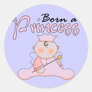 Princesa Pink T-shirts y regalos del bebé Pegatina Redonda