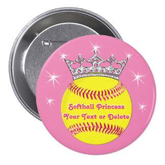 Princesa Pins Tiara, softball, SU TEXTO del