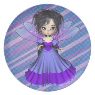 Princesa Plate del Faerie de Jae del terciopelo Platos Para Fiestas