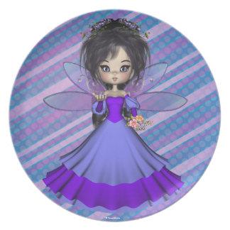 Princesa Plate del Faerie de Jae del terciopelo Plato De Comida