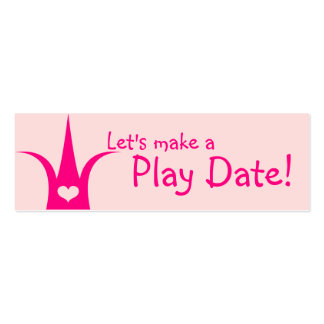 Princesa Playdate Card Tarjetas De Visita Mini