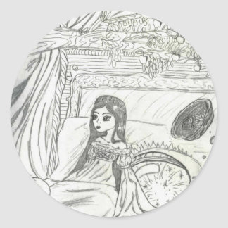 Princesa Poem Etiqueta Redonda