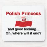 Princesa polaca apuesta alfombrilla de raton