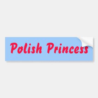 Princesa polaca pegatina para el parachoques pegatina para auto
