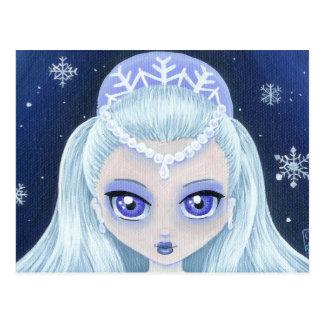 Princesa Portrait Postcard del invierno Tarjetas Postales