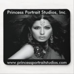 Princesa Portrait Studios Mousepad (B/W) Alfombrillas De Ratones