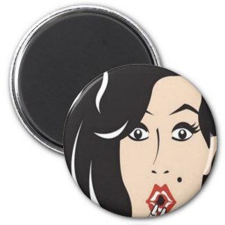 Princesa Portraits Caricatures Magnet Imán Redondo 5 Cm