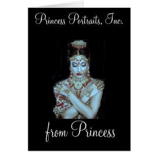 """PRINCESA PORTRAITS """"DE LA PRINCESA"""" TARJETA"""