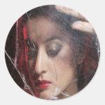 Princesa Portraits - el espejo 1 Pegatina Redonda