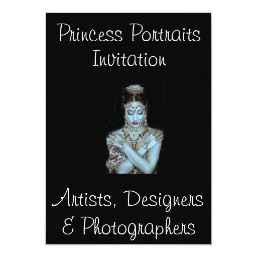 """PRINCESA PORTRAITS INVITATION @ ZAZZLE INVITACIÓN 5"""" X 7"""""""