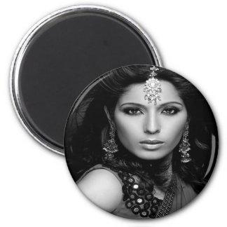 Princesa Portraits Magnets-B/W Imán Redondo 5 Cm