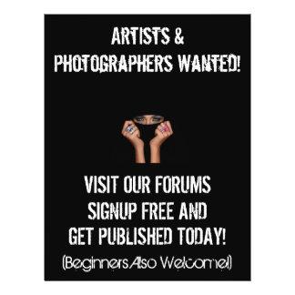 "Princesa Portraits Marketing Flyer Folleto 8.5"" X 11"""