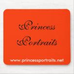 Princesa Portraits Mousepad (roja) Tapete De Ratón